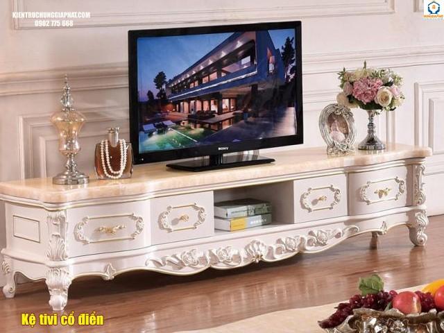 Kệ tivi theo phong cách cổ điển
