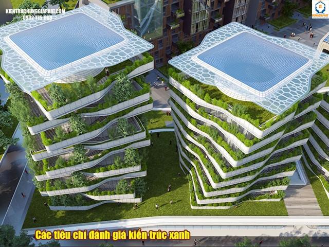 các tiêu chí đánh giá khi thiết kế kiến trúc xanh