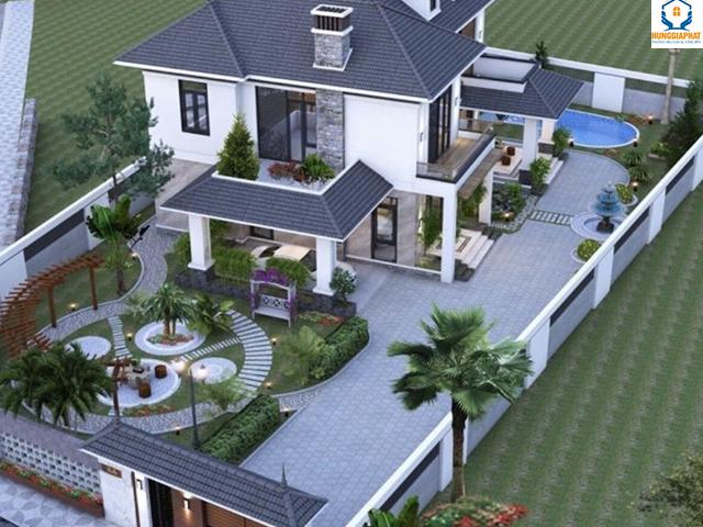 Lưu ý đến diện tích xây dựng đối với biệt thự nhà vườn