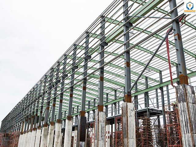 Xây dựng nhà xưởng với kết cấu thép chất lượng