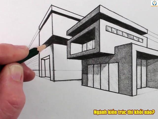 Ngành kiến trúc thi khối nào?