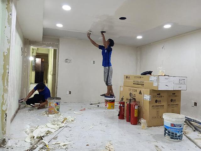 các bước thực hiện quy trình sửa nhà