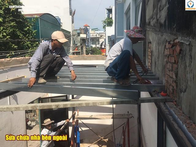 sửa nhà bên ngoài không xin phép
