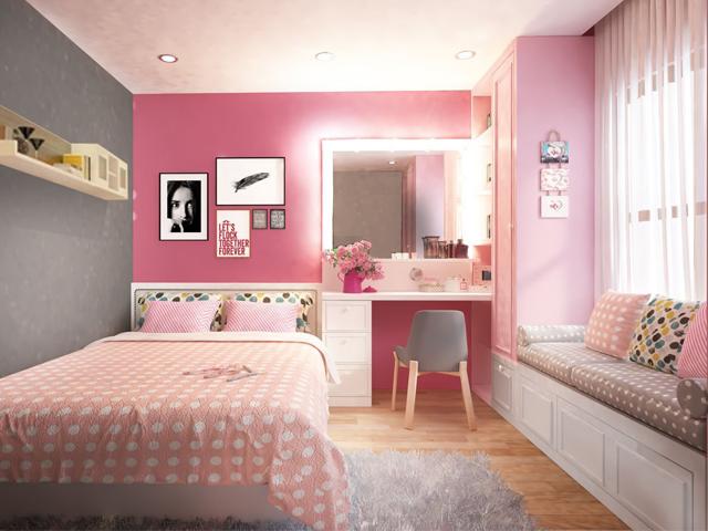 Trang trí phòng ngủ nhỏ bằng phụ kiện nhỏ xinh